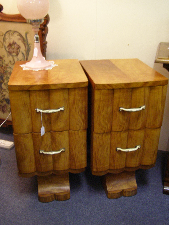 Art-deco Bedside Cabinets
