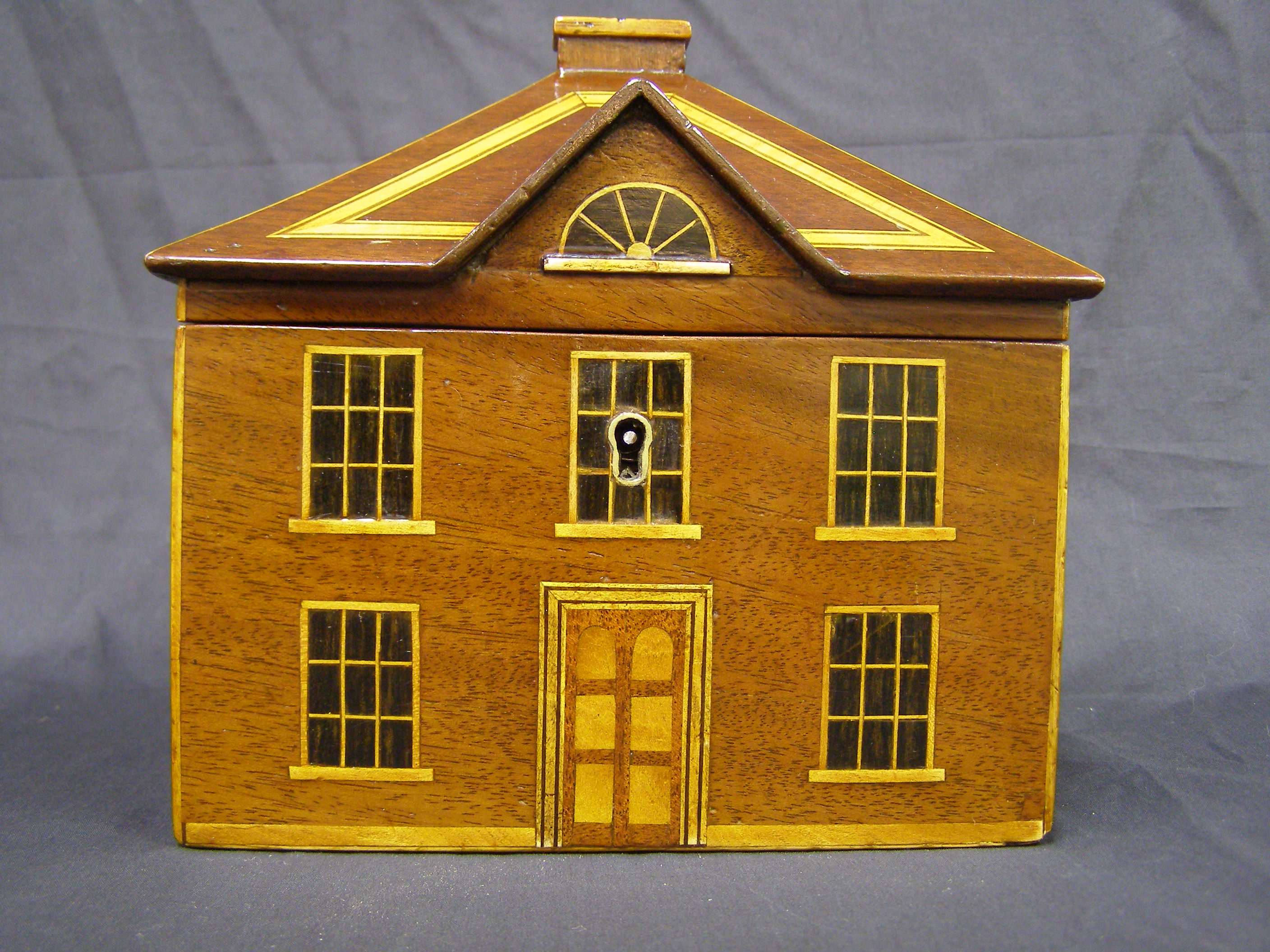 Georgian Tea Caddy in the shape of a Mansion