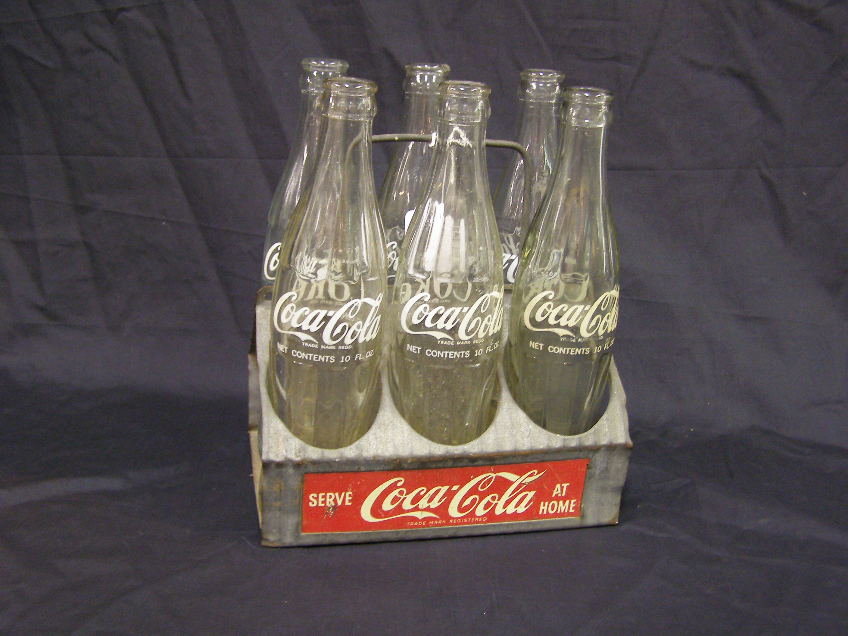 Coca-Cola Basket with six bottles