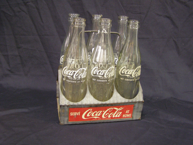 Coca-Cola Basket with six bottles