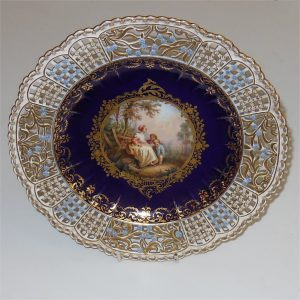 Dresden Cabinet Plate Woman Seated with Children