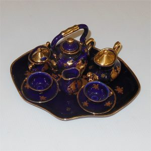 Limoges Miniature Tea Set Tray 9 Pieces