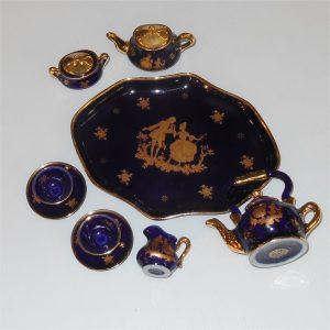 Limoges Miniature Tea Set Tray 9 Pieces