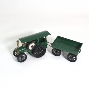 Minic Traction Engine and Trailer c1950s