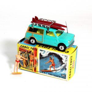 Corgi Toys 485 Surfing With BMC Mini Countrymen