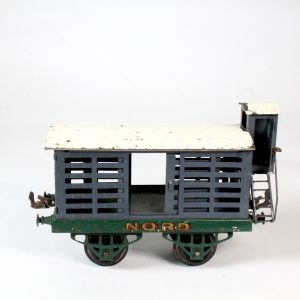 """French Hornby Meccano Cattle Wagon """"Nord"""" c1930"""