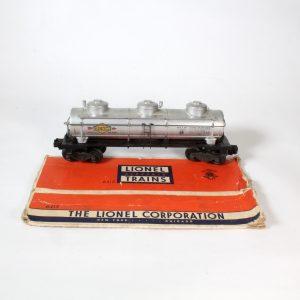 """Lionel Trains USA """"Sunoco"""" 3 Dome Tank Wagon c1953"""