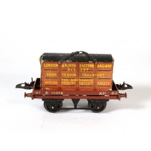 Hornby Maccano O-Gauge Flat Truck and Container circa. 1950s
