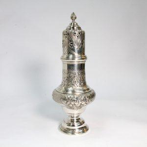 Large Sterling Silver Castor Sugar Shaker 1901