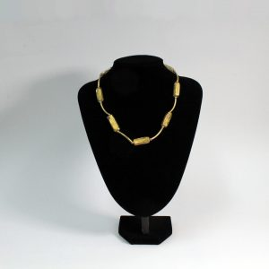 Venitian Glass Necklace 24ct Gold