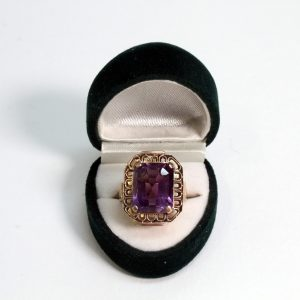 Handmade Cocktail Ring Amethyst 9ct