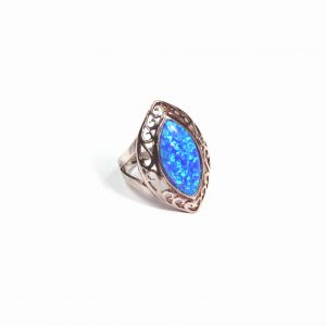 Silver Opalite Ring 3ct