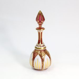 Beautiful Ruby Moser Scent Bottle