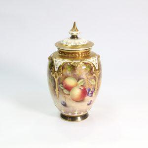 Royal Worcester Signed G.Banks Fruit-Patterned Pot Pourri
