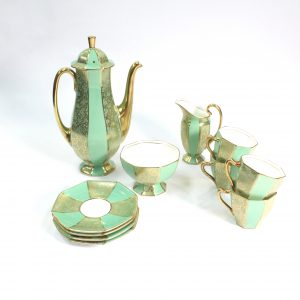 11 piece RoyalDoulton Guilded Coffee Set