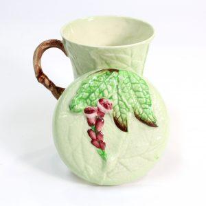 """Carlton Ware Green """"Fox Glove Chocolate Mug"""""""