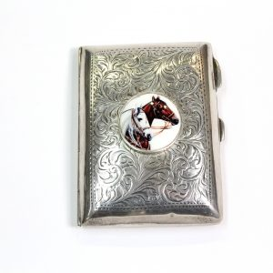 Cigarette Case with Sterling Sliver Birmingham 1916