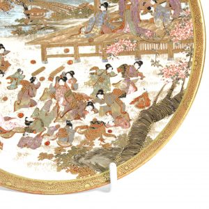 Outstanding Japanese atsuma Plate Meiji Period