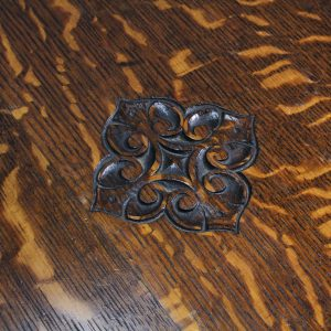 Compact Revolving Bookcase in figured oak