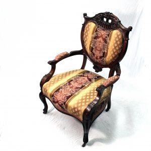 19th Century carved Mahogany Salon Chair
