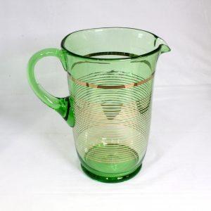 5 Piece Uranium Glass Drink Set