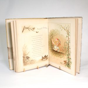 """Victorian Children's Book """"Birds and Blossoms"""" - Chromo Lithographs"""
