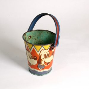 Mickey Mouse, Donald Duck and Pluto small metal bucket