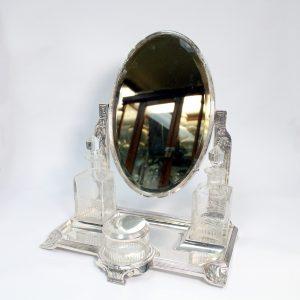 Rare WMF Dressing Table Mirror Toilet Bottles