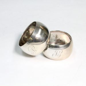 Boxed set of Sterling Silver Serviette Rings Sheffield 1923