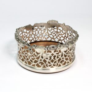 Silver Plated Bottle Coaster circa1860