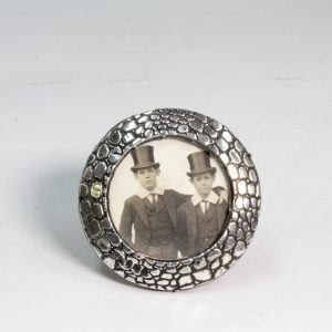 Small Round Silver Photo Frame Birmingham 1903