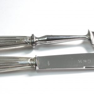 Boxed French Silver and Stainless Steel Carving Set