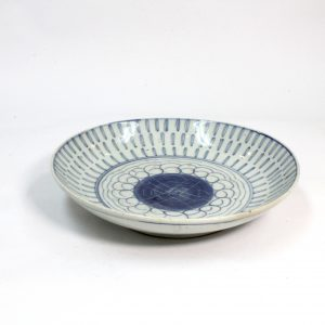 Chinese Blue and White Porcelain Plate from the Quing Dynasty