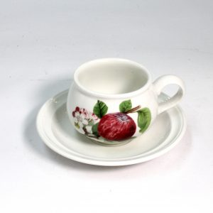 "Portmerion Ceramic Cup and Saucer ""Apple"""