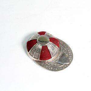 "Sterling Silver ""Jockey Cap"" Pin Cushion"
