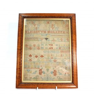 Framed Sampler by Elizabeth Horner 1693