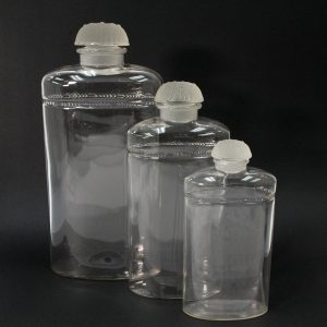 René Lalique Set of 3 Perfume Flasks for Coty