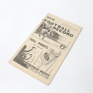 Football Record - May 18 - Carlton vs Richmond 1957