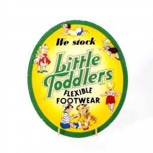 Advertising sign for Little Toddlers Footwear