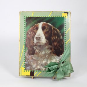 Cocker Spaniel Dog Chocolate Box circa 1940s/1950s