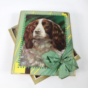 Cocker Spaniel Dog Chocolate Box circa 1940s/1950s