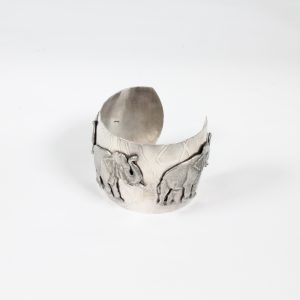 Stylish Elephant Cuff made from Mixed metal