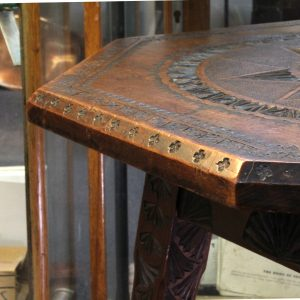 Antique Chip-Carved Octagonal Occassional Table