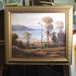 "Australian Oil on Canvas by Leon Hanson ""Summer Time Cowes,Vic"""