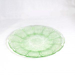 Uranium Glass Dinner Plate