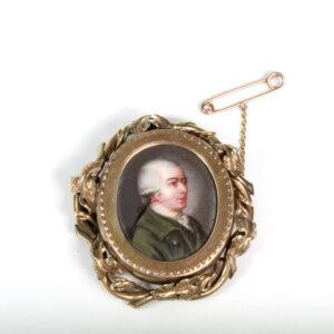 Georgian gold portrait locket