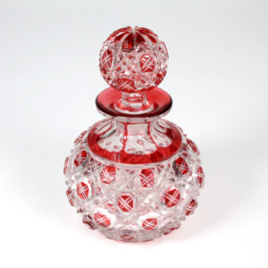 Antique Baccarat Cranberry Perfume Bottle