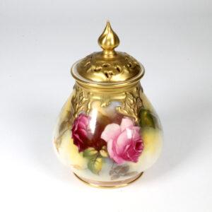 Royal Worcester Rose Painted Vase