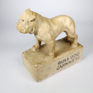 Rare Bulldog Guiness Plaster Advertising Figure 1930/40s