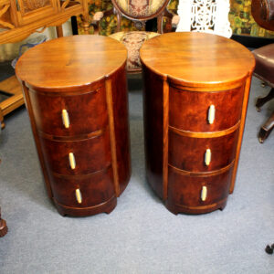 Oval Art Deco Beside Tables